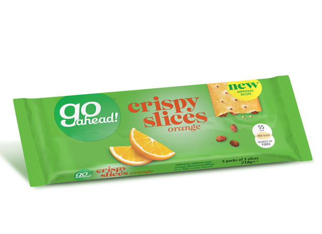 GoAhead Crispy Slices Orange & Sultana 5x43,6g