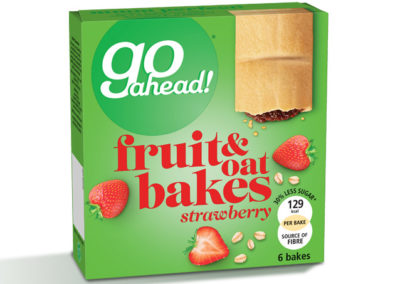 GoAhead Fruit&Oat Bakes Strawberry 6x35g