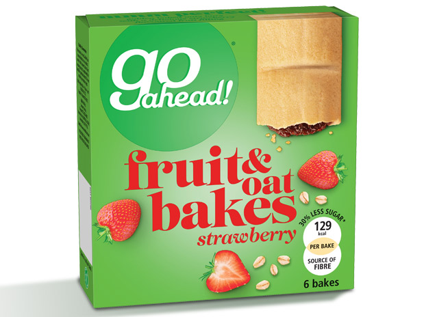 GoAhead Fruity Bakes Strawberry 6x35g