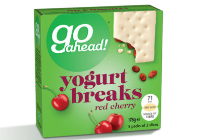 GoAhead Yogurt Breaks Red Cherry 5×35,5g