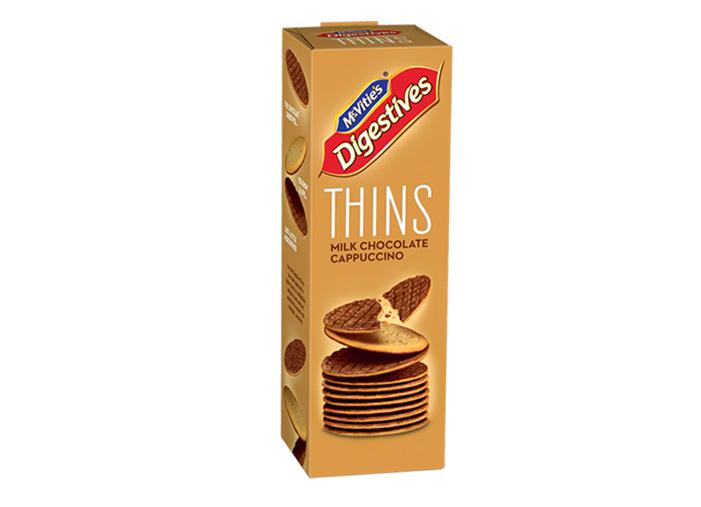 McVitie's Digestive Thins Milk Chocolate Cappuccino 180g